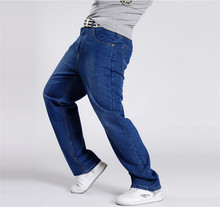 Baggy Style Men's Jeans Hip Hop Dancers Pants Loose Big Size 30-46 Jeans Boys Skateboard Jeans Rap Male Plus Size