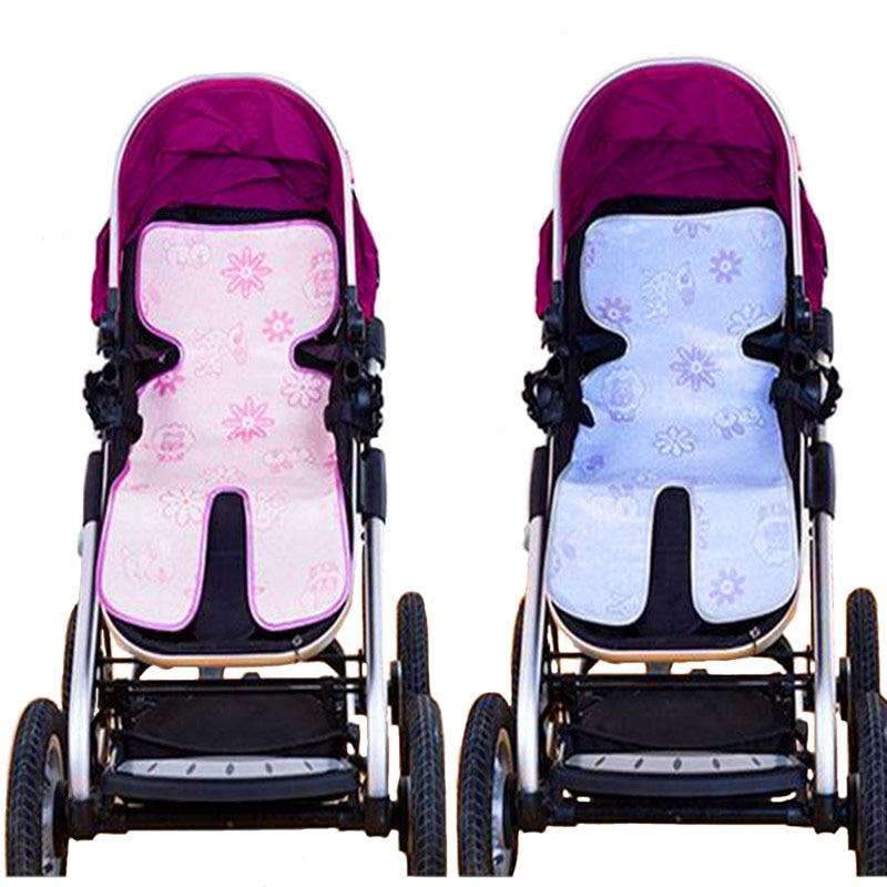 Car Seat For Children Umbrella Stroller Car Seat Cushion Summer Ice Silk Table Stroller Accessories Qyt06