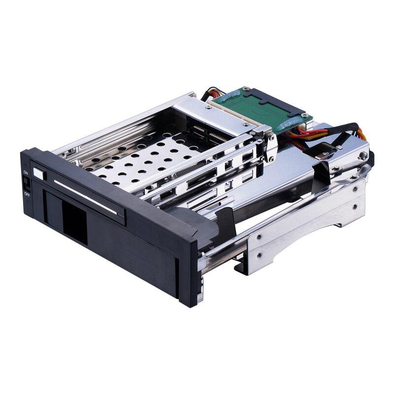 Uneatop ST7221 2.5+3.5-дюймовый двойной залив 2-бей SATA жесткий диск стойку корпус