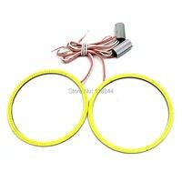 2pcs 120mm COB Angel Eye LED Chip Car Light Super Bright Waterproof Headlight Halo Ring COB