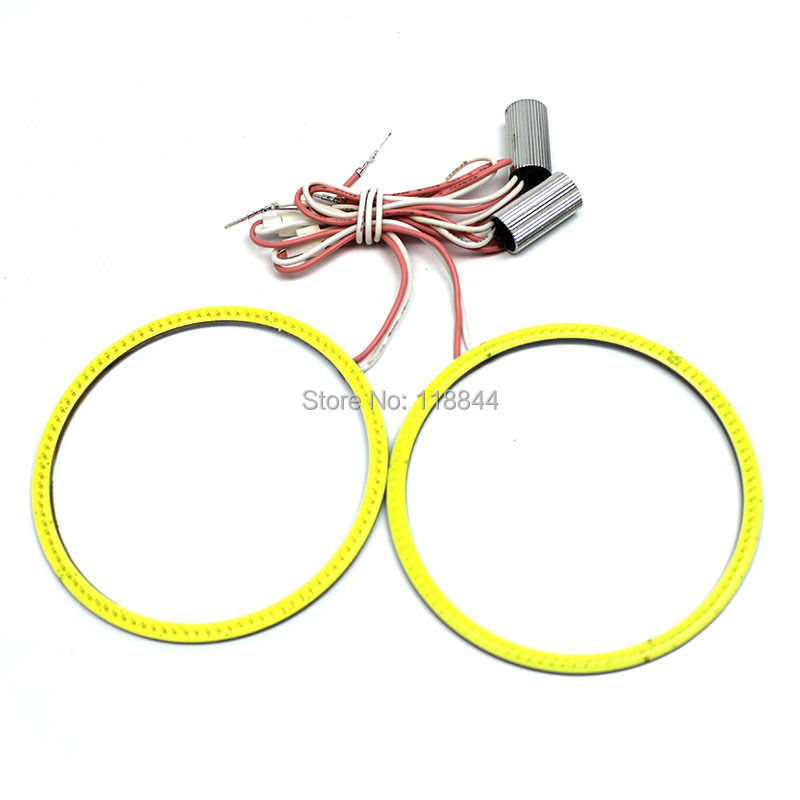 2pcs 120mm COB Angel Eye LED Chip Car Light Super Bright Waterproof Headlight halo Ring COB light For Ford Chevrolet VW