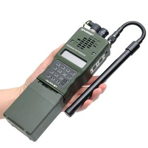 Image 1 - 72 см Складная углеродистая сталь, тактический SMA Male двухдиапазонный УКВ 144/430 МГц для Yaesu TYT MD 380 Wouxun KG UV8D9D Plus Walkie Talkie