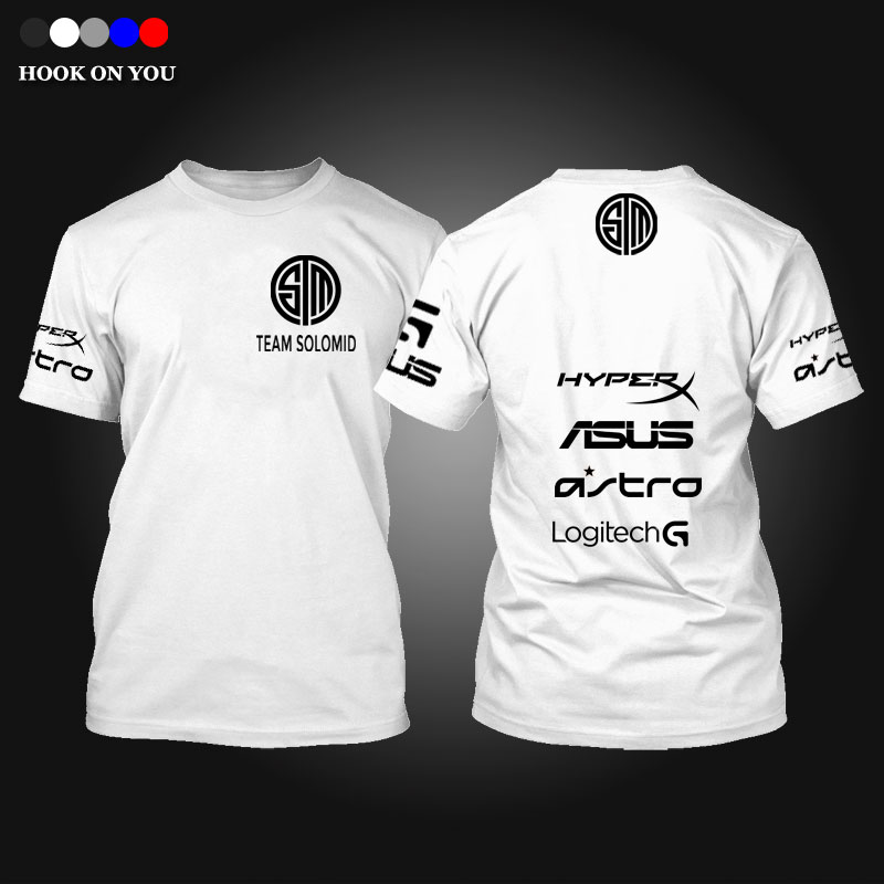 design e game lol game team t shirt tsm team solo mid print men t