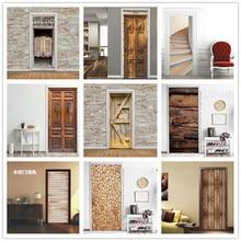 Западный бар деревянные двери наклейки DIY самоклеющиеся водоотталкивающие обои для двери домашняя отделка спальни гостиной настенные наклейки