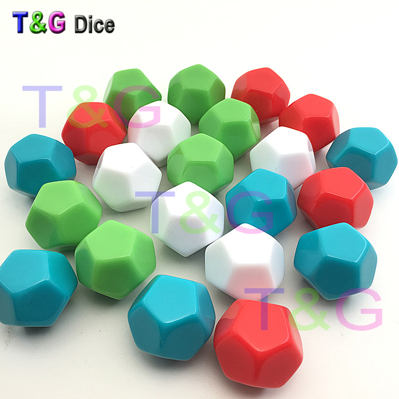 New 2pcs 12-sided D12 white blank dice can be written by pen for board game and other  accessories High Quality