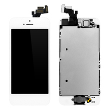 1PCS Alibaba China Grade AAA Screen For Apple iPhone 5 LCD Touch Screen Home Button+Front Camera Replacement Assembly