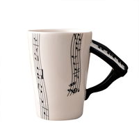 2017 Big Sales Ceramic Music Score Patterns Cups Mugs With Piano Hand Shank Coffee Cups