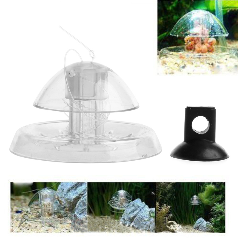 Aquarium Fish Plant Tank Plastic Clear Snail Trap Aquarium Fish Tank Plants Planarian Leech Catch Environment New