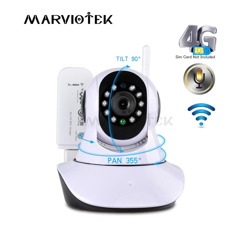 """""""720P"""" belaidė IP kamera su """"wifi"""" kamera Vaizdo stebėjimas 360 laipsnių """"Pan Tilt 4G"""" vaizdo kamera 3G su SIM kortelės lizdu """"ipcam IR"""""""