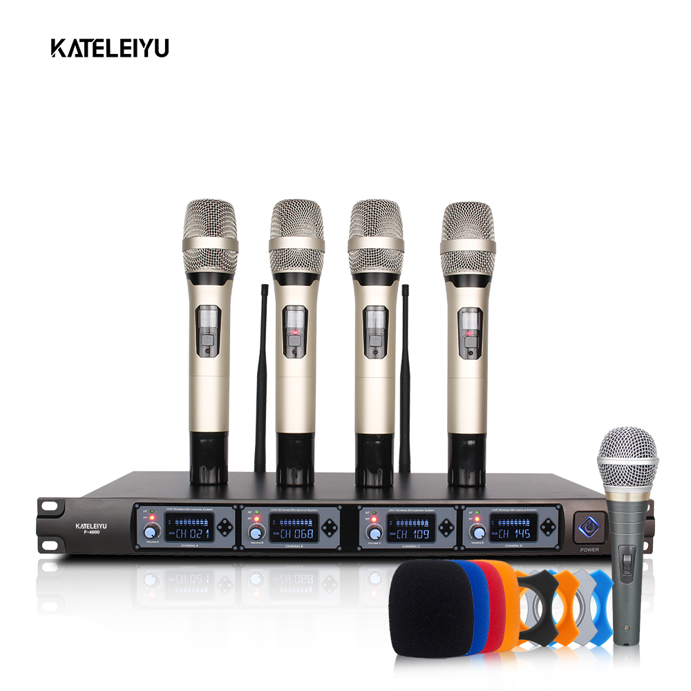 Professional Handheld Wireless Microphone UHF System & Wireless Microphone Receiver Karaoke Session lapel microphone 4 цена 2017