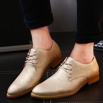 Men casual shoes new fashion PU leather Shoes high quality Bullock's pointed men shoes lace up  flat heel men business shoes недорого
