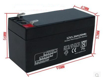 12V 1.3AH lead acid rechargeable battery