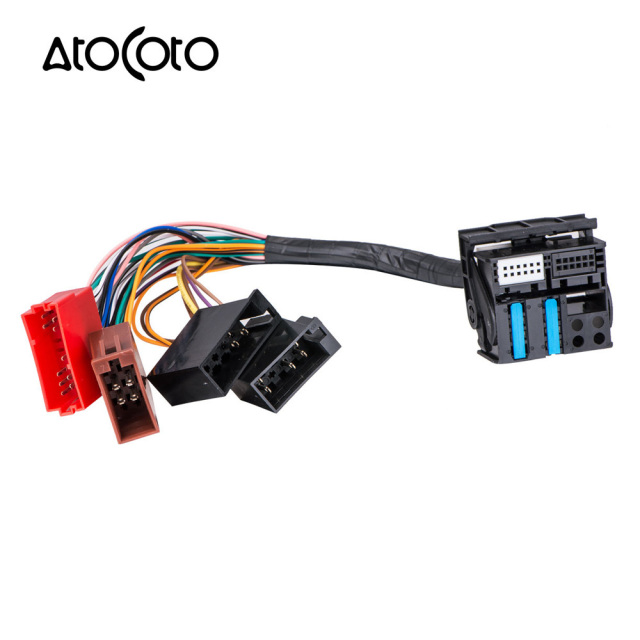car stereo radio iso standard wiring harness connector adapter plug rh aliexpress com  car audio wiring harness connectors