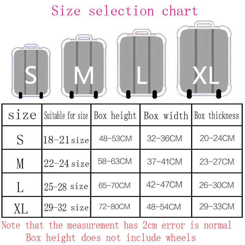 Брендовый Эластичный Защитный чехол на чемодан, аксессуары для путешествий, 18-32 дюйма, чехол для чемодана на колесиках
