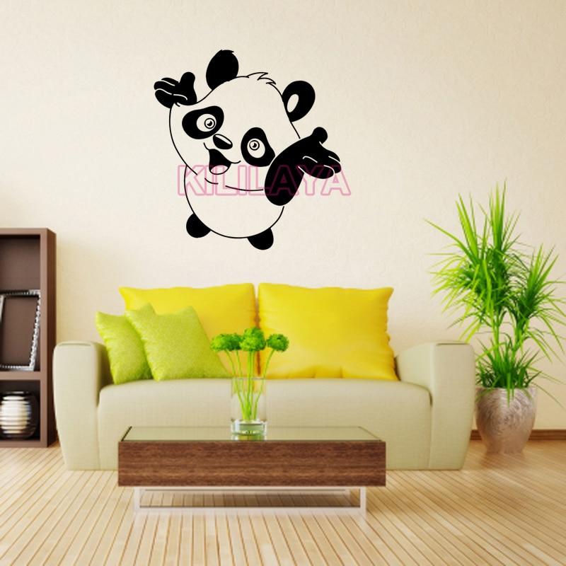 Stickers Cartoon Panda Vinyl Wall Sticker Decals Art Mural Wallpaper ...