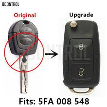 Chave remota qcontrol, controle remoto atualizado para skoda octavia i 5fa 008 548 para hella 434mhz