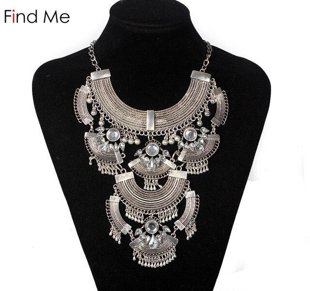 db555f7b4a10 Find me 2018 marca de moda energía declaración collar y colgantes vintage  largo borlas collar gargantilla