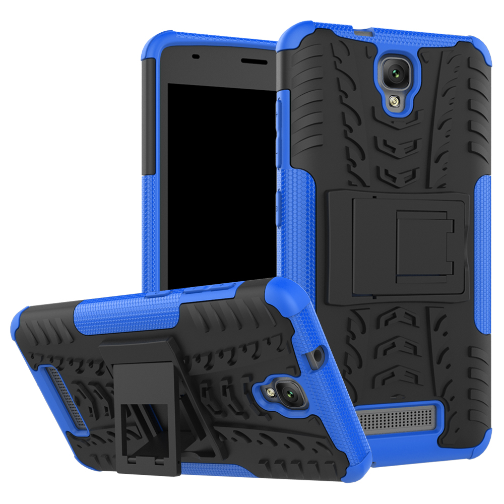 2 In 1 Heavy Duty Strong Rugged Armor Tire Style Hybrid TPU PC Hard Stand Bracket Case For ZTE Blade L5 L5 Plus