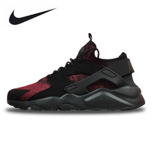 ba956a0a0aed Original New Arrival Official Nike Air Huarache Run Ultra Men s and Women s  Black Red Running Shoes Sneakers 753889-994 36-44.5