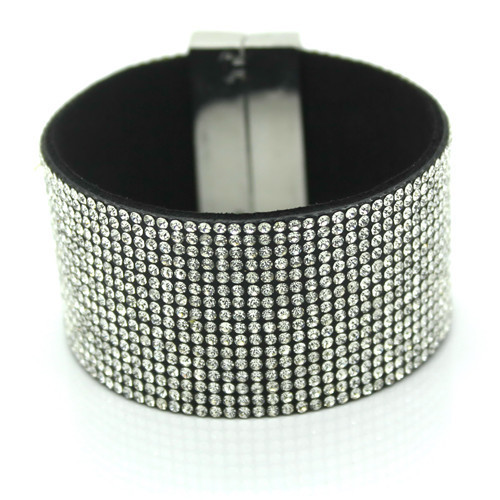 Rhinestone Leather Bracelet...