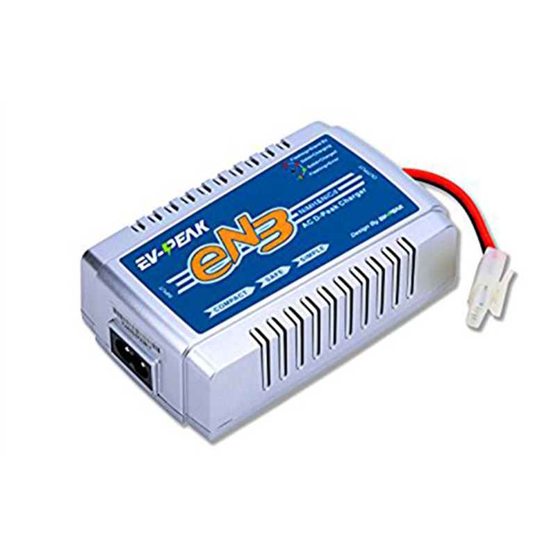 EV-PEAK EN3 35W 3A AC Input 100V-240V 1-8s NiMH NiCD Battery Charger with Tamiya Connector