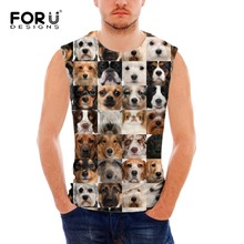 FORUDESIGNS mens workout Animal tank top Fashion Sleeveless Shirt Bodybuilding Stringer Casual Singlet Quick-dry  Vests