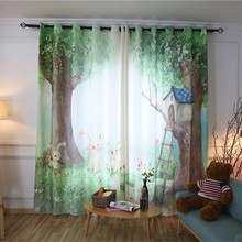 Cartoon 3d Curtains for kids the Bedroom childenr 100% polyester Blackout Curtains liveing room Window Curtains