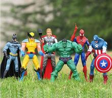 6 pcs /set 6″The Avengers marvel Captain America Thor hulk Iron man the Action Figures Toy Gifts Toys Action Figures