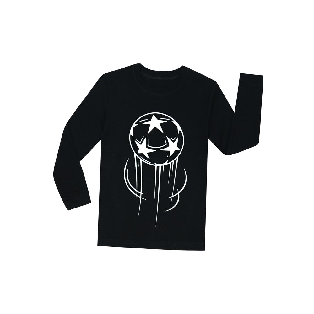Glow In The Dark Football Boys Pajamas Children Full Sleeve Glow In ... 88881cd7b