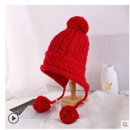 Invierno nueva llegada sombrero de lana de Corea del Sur de protectores auditivos de chica dulce sombrero Casual - 6