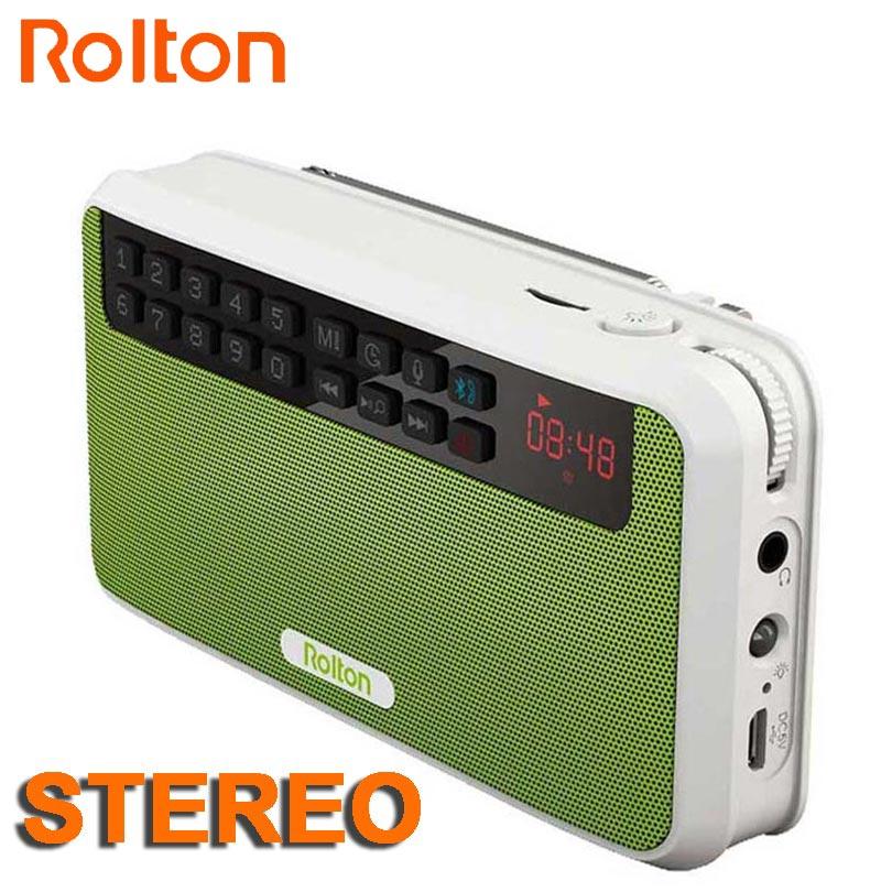 Tragbares Audio & Video Radio Rolton E500 Mini Bluetooth Lautsprecher Box Unterstützung Bluetooth Anruf/tf Karte/mp3/fm Radio/kopfhörer /led Licht/lautsprecher/rec Elegante Form