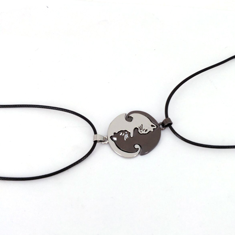 Couples / BFF Cat Pendant Necklaces – Yin & Yang