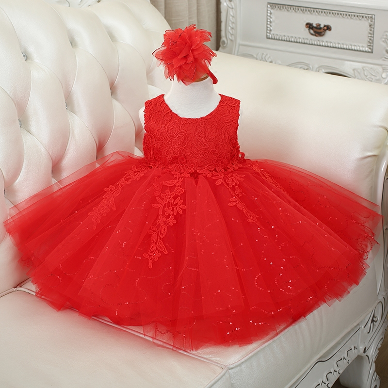 Sequin Baby Girl Clothes Weddings Pageant White/Red/Pink First Holy Lace Embroidery Communion Dress Children Birthday Tutu GownSequin Baby Girl Clothes Weddings Pageant White/Red/Pink First Holy Lace Embroidery Communion Dress Children Birthday Tutu Gown
