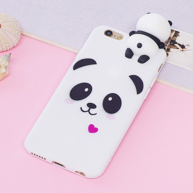 meet 62c5c 0bf7f US $2.77 30% OFF|For Coque iPhone 6s Case Cover for iPhone 6 Case 3D  Cartoon Panda Unicorn for Case iPhone 6 6s Back Cover 6S 6 Plus Capinha  Etui-in ...