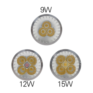 Image 3 - E27 e14 ledライト調光対応MR16 DC12V led 9 ワット 12 ワット 15 ワットGU10 led電球スポットライトハイパワーgu 10 ledランプ白色ledスポットライト