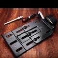 Black New Telescopic Folding LED Light Side Mount License Plate for Genuine Harley Sportster 883 1200 48 XL 04-UP
