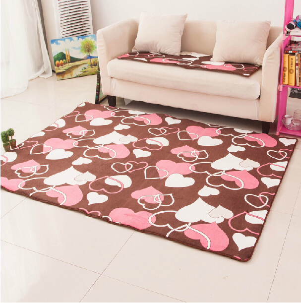 Free shipping Coral Fleece Carpet Bedroom Rug for Girls Non Slip ...