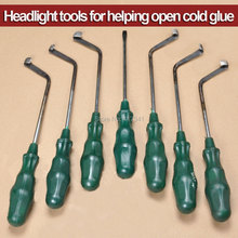 Free Shipping Open Headlight Tool Cold Glue Tool Knife for Removing Cold Melt Glue Sealant from Car Headlamp 7 PCS Knifes