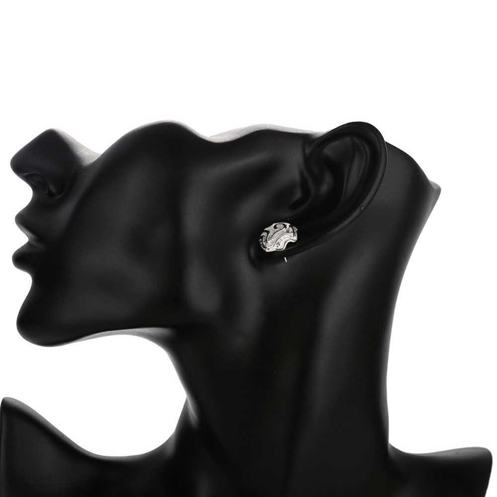 Real 925 ประทับตรา Silver เครื่องประดับชุบแฟชั่นผู้หญิงน่ารัก Rose Flower Stud ต่างหูสำหรับสาวอุปกรณ์เสริม Nice เครื่องประดับ