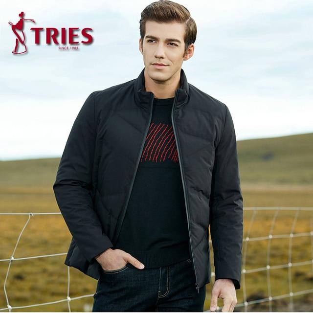 TRIES duck down jacket men winter coat men Brand mens down jacket lightweight down jacket for men Casual Outerwear mens clothing 4