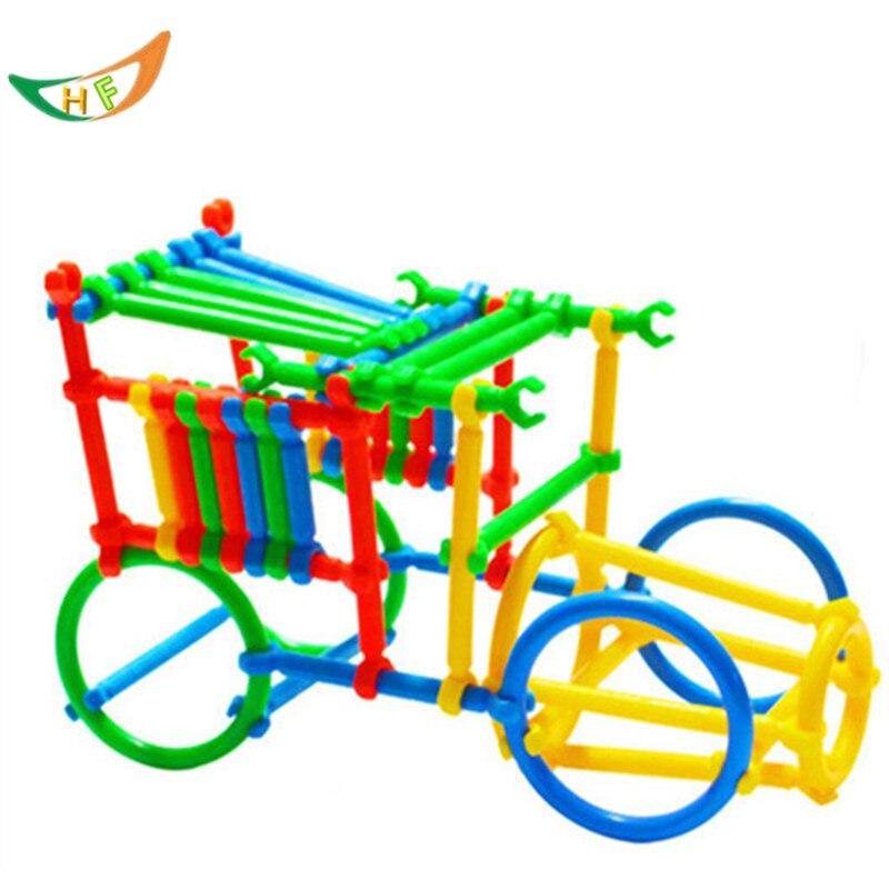 New 180pcs Smart stick building blocks enlighten child plastic model diy kits educational kids toys assemble patchwork