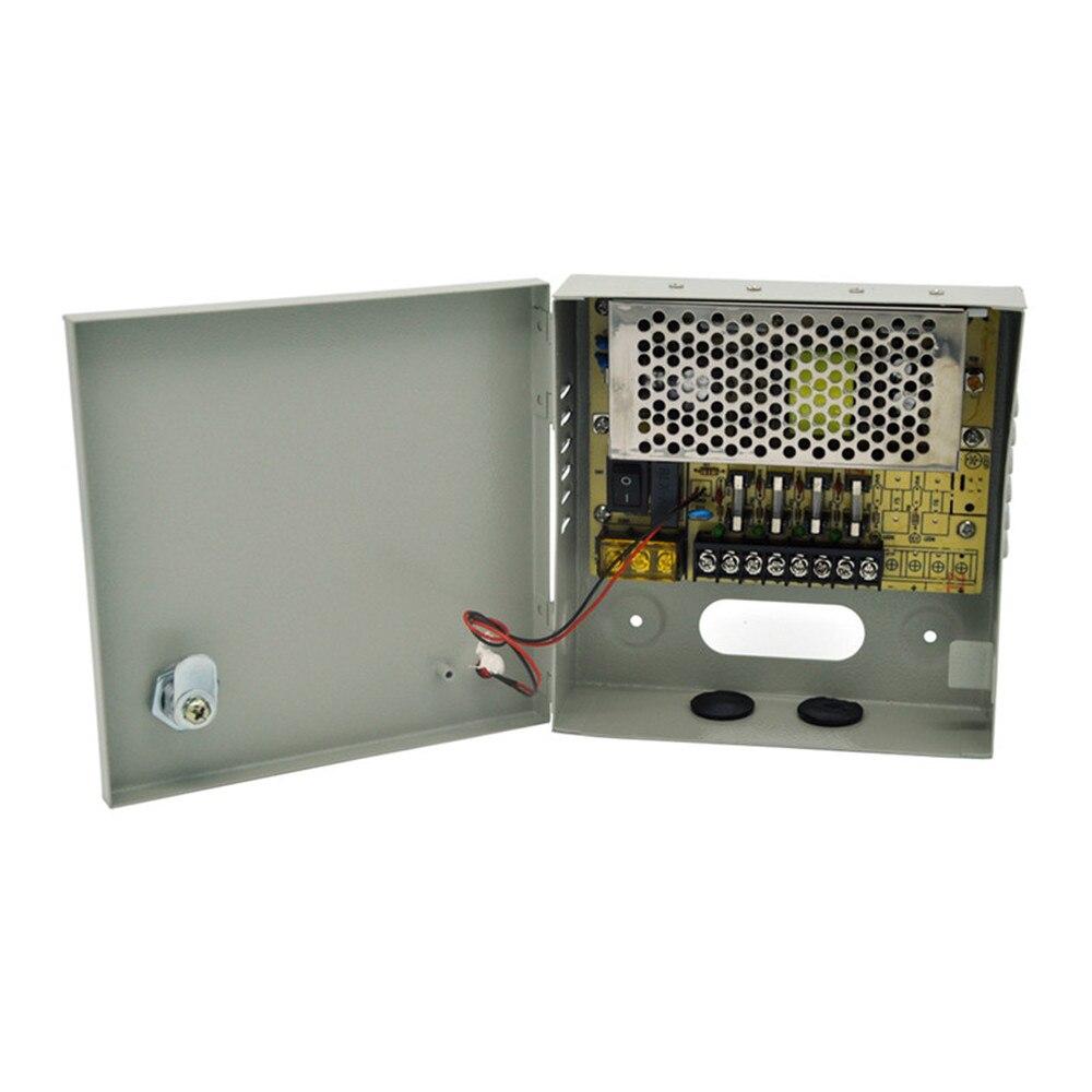 AC 100~240V to DC 12V 3A 36W Output 4 Channels CCTV Power Supply Box for Cameras 4pcs 12v 1a cctv system power dc switch power supply adapter for cctv system