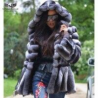 Tatyana Furclub Real Fur Coat Winter Fur Jacket For Women Thick Warm Rex Rabbit Fur Outerwear With Hood Luxury Full Pelt Jackets