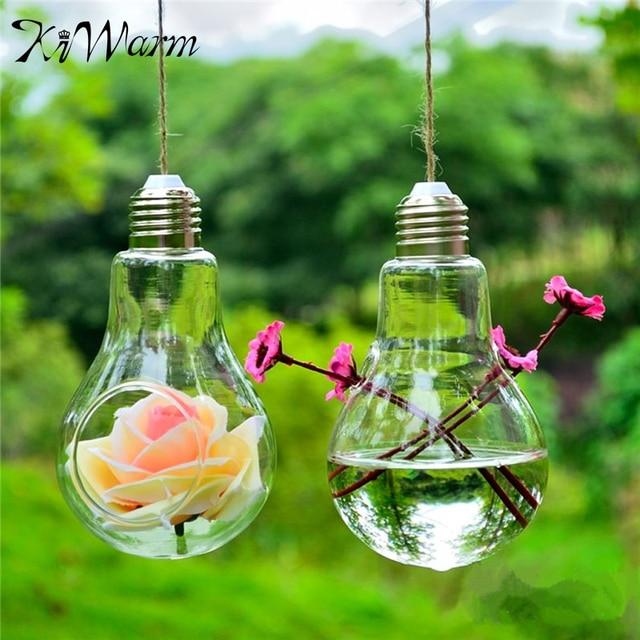 Modern Design Clear Hanging Glass Plants Flower Vase Hydroponic