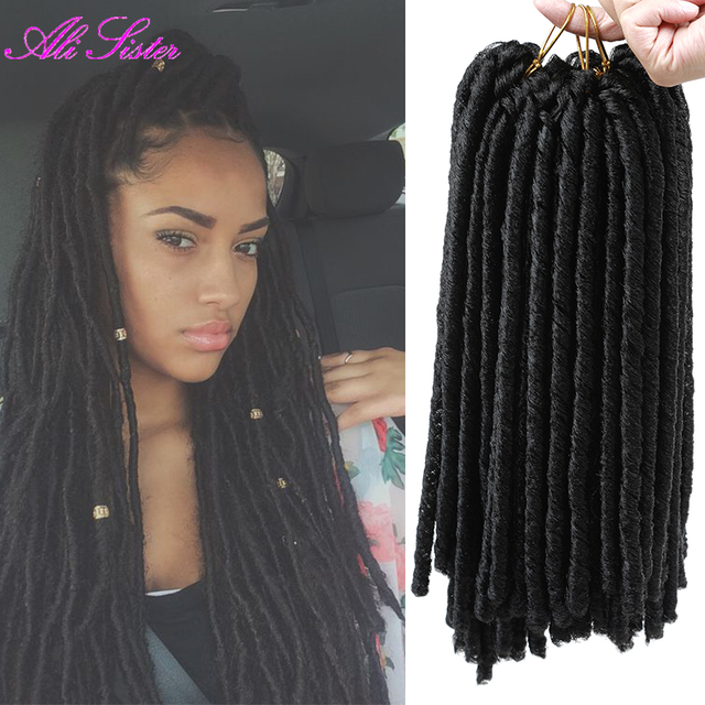 Faux Locs Crochet Hair Xpression Braiding Extensiones Box Braids Hairstyles Synthetic For