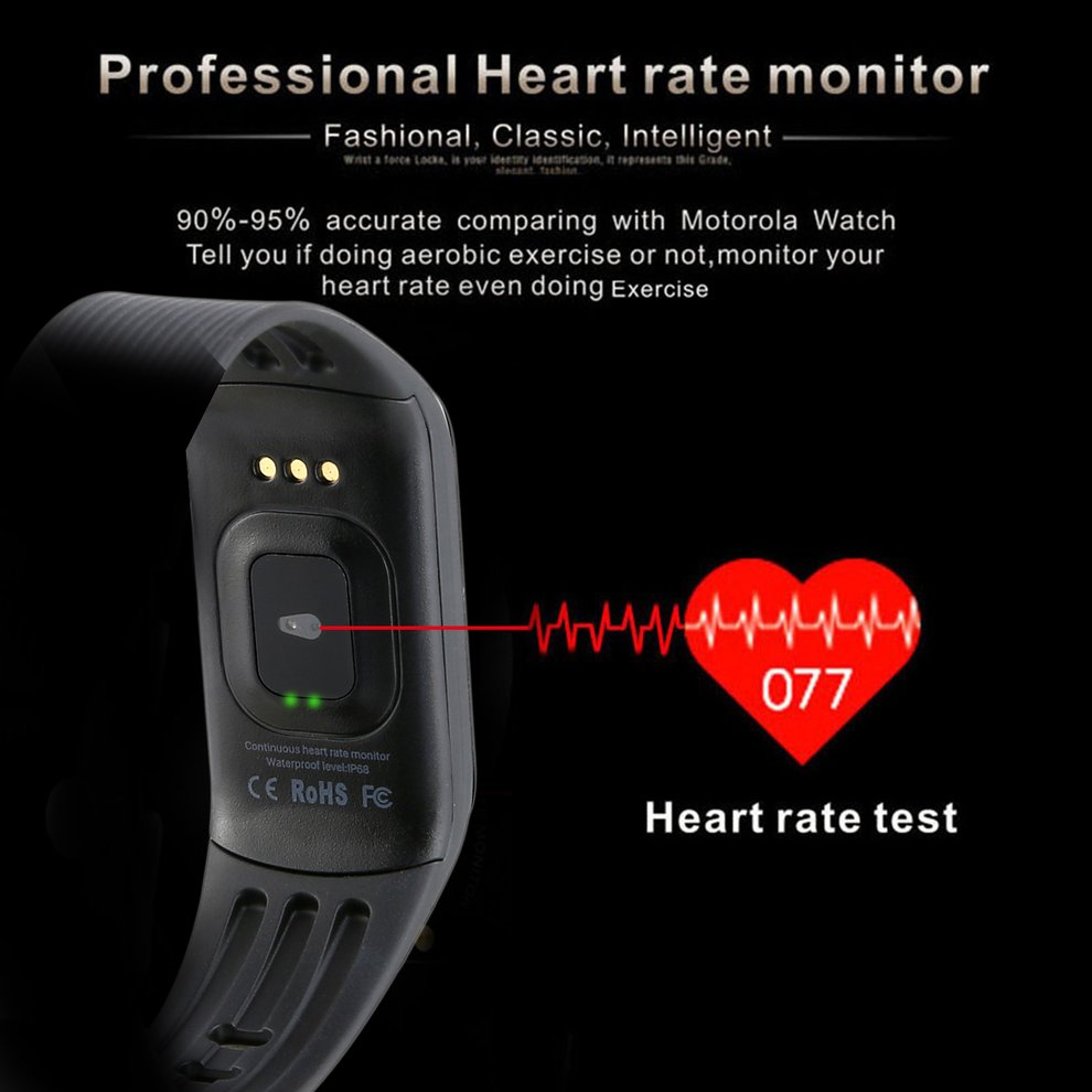 10PCS Smart Fitness Tracker Bracelet Waterproof 0.96 Touch Colorful Heart Rate & Blood Pressure Monitoring Wristband
