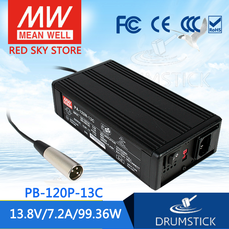 MEAN WELL PB 120P 13C 13.8V 7.2A meanwell PB 120P 99.36W Single Output Power Supply or Battery Charger-in Switching Power Supply from Home Improvement    1