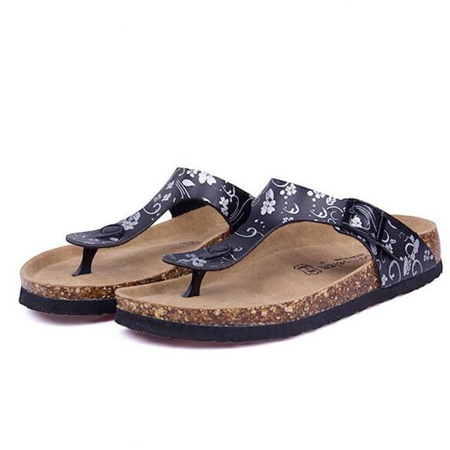 Fashion Women Slippers Flip Flops Summer Beach Cork Shoes Slides Girls Flats Sandals Casual Shoes Mixed Colors Plus Size 35-42
