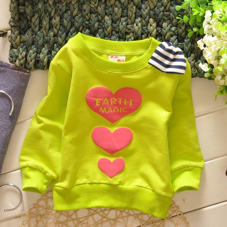 (1piece /lot) 100% cotton 2017 cute green bow baby girl outerwear 73-100cm