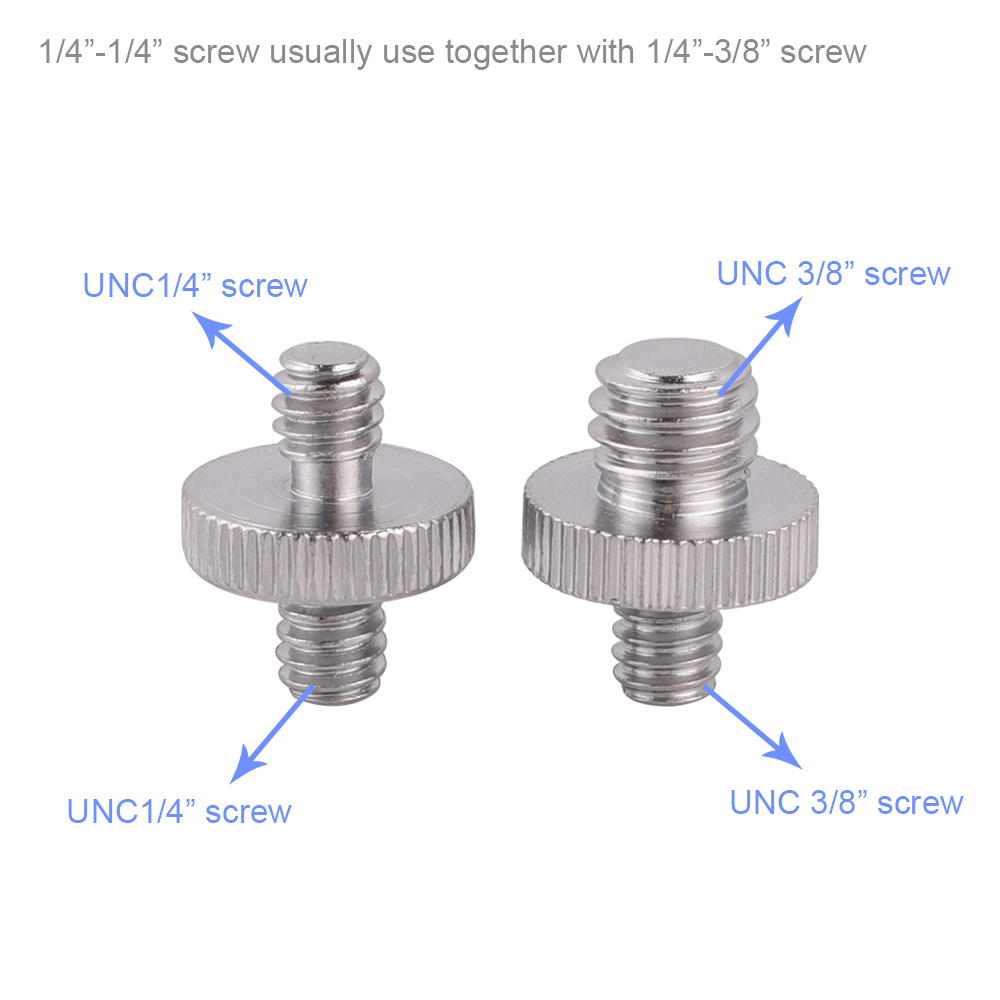 Taidda Male to Female Conversion Adapter Screw 10pcs 1//4 Inches Solid Universal Sturdy Camera Flash Bracket Screw for Dual L-Shaped Camera Flash Bracket